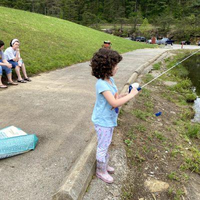 Fishing at Teter Creek